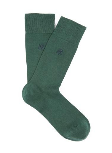 Mavi Uzun Çorap Yeşil